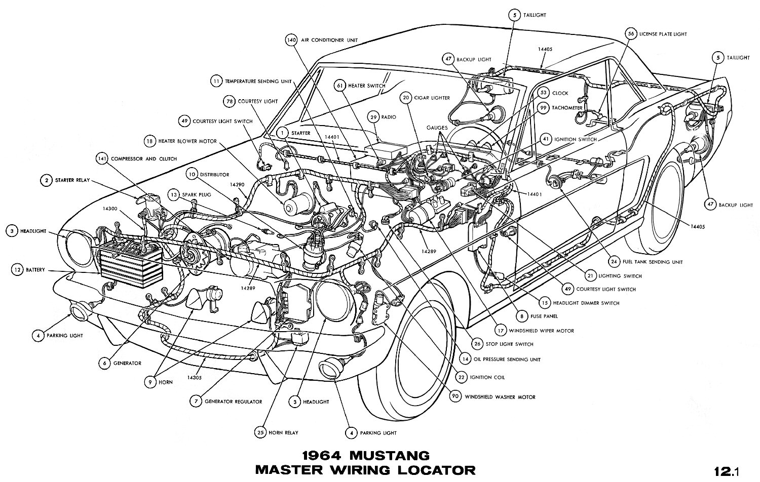 el ritningar rh ht67 com 66 Mustang Power Steering Diagram 88 Mustang 5 0  Wiring-Diagram