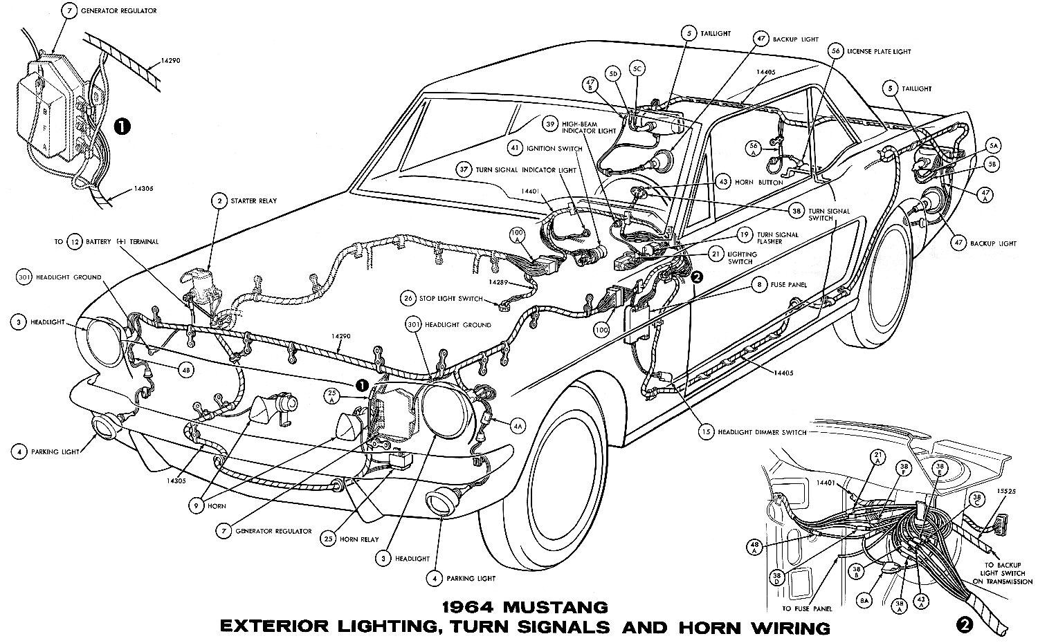 1969 mustang fuse box location