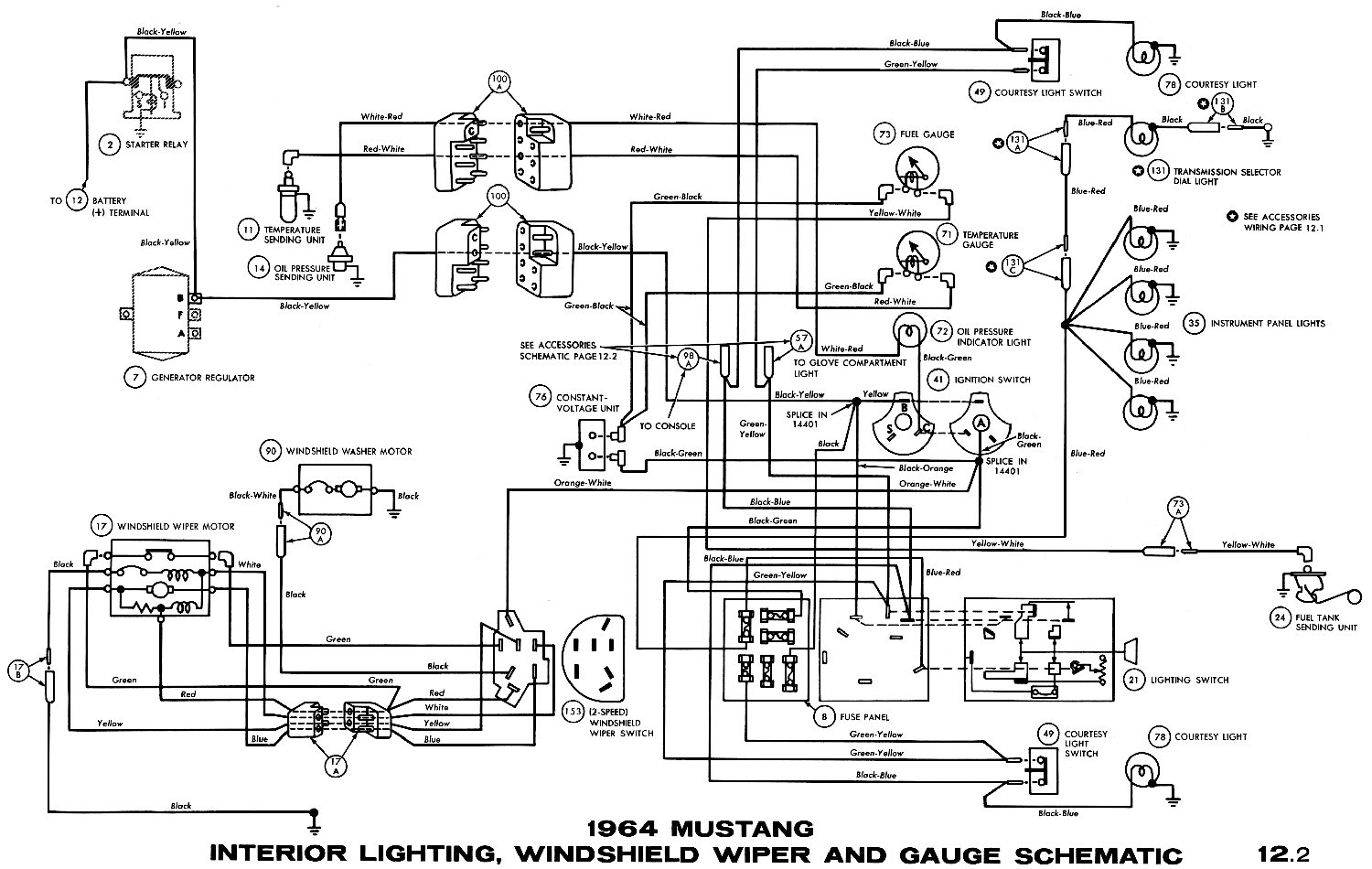 Mustang el on 1965 mustang gauge wiring diagram