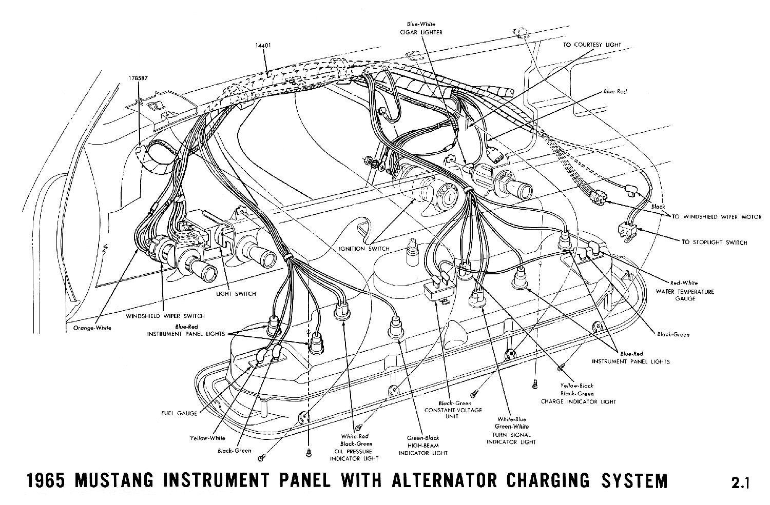 el ritningar rh ht67 com 1965 Mustang Radio Wiring Diagram 1964 Mustang Tail Light Wiring Diagram
