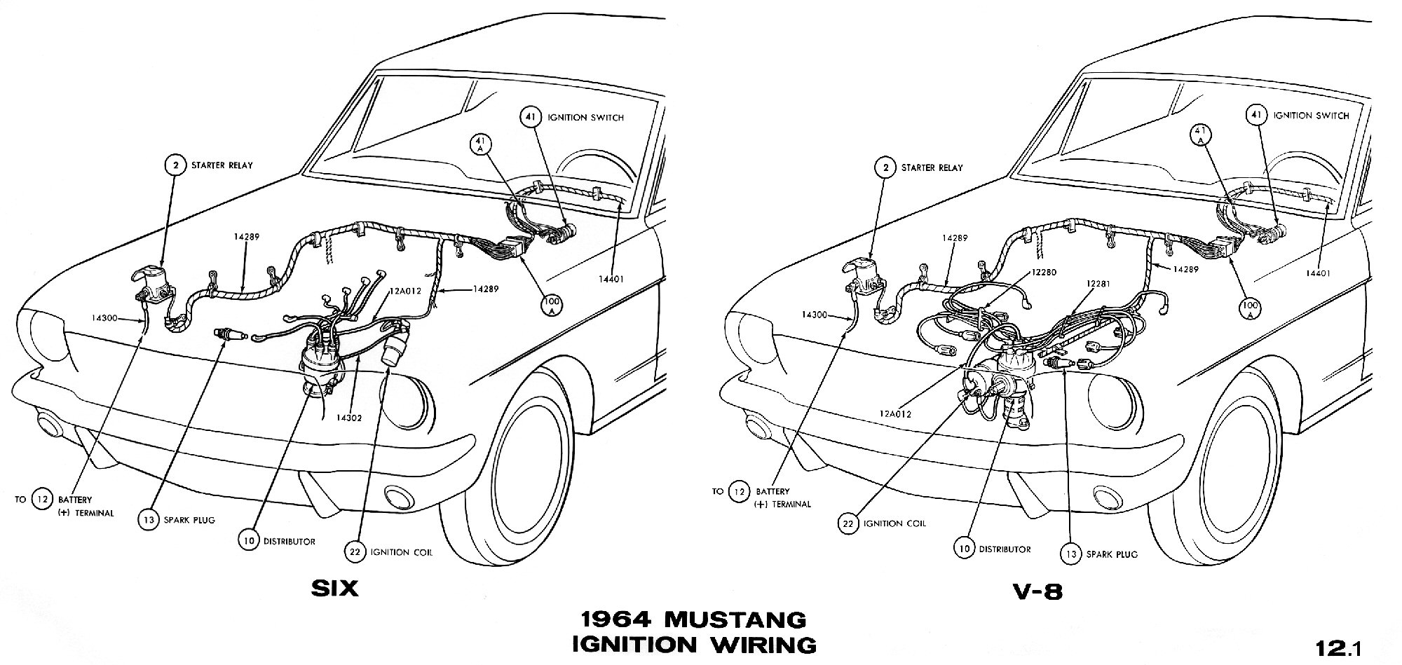 El Ritningar 87 Mustang Wiring Diagram 302 1964 Ignition