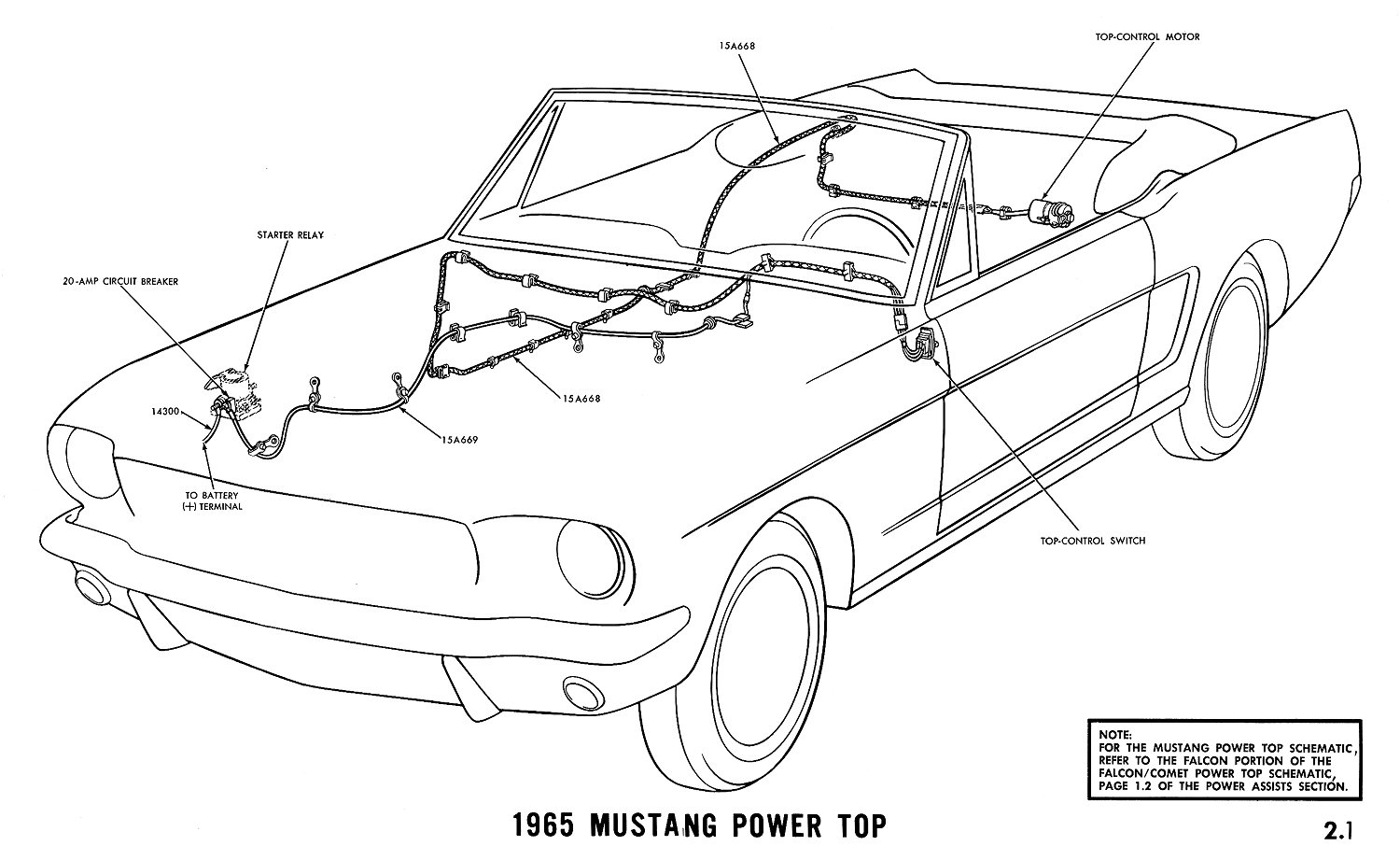 El Ritningar 1968 Mustang Wiring Diagram Radio Audio 1965 Power Top